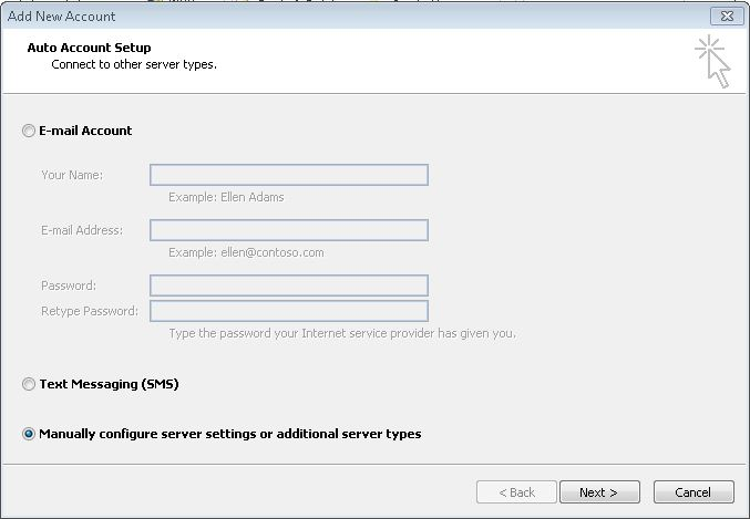 Configure Your Email Software Outlook 2010 Imagicom